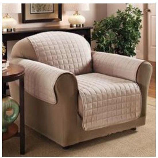 """Microfiber Single Seater Sofa Cover - 70X65"""" - Taupe"""