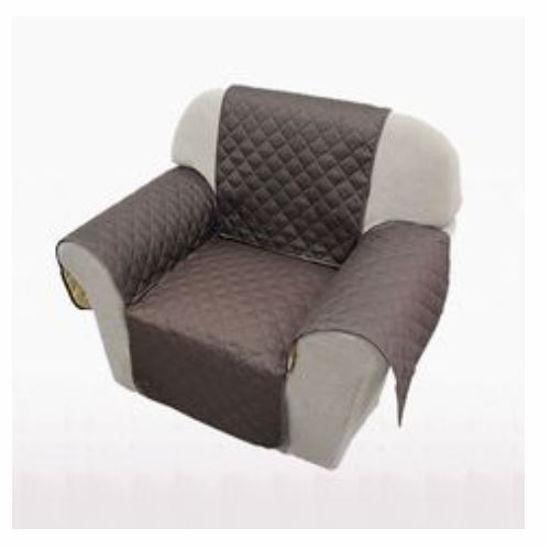 "Microfiber Single Seater Sofa Cover - 70X65"""" - Chocolate"