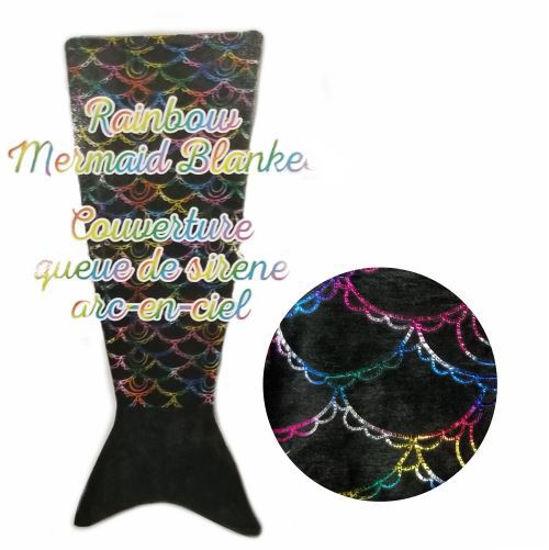 Kids Mermaid Tail Blanket Rainbow - 55X132cm