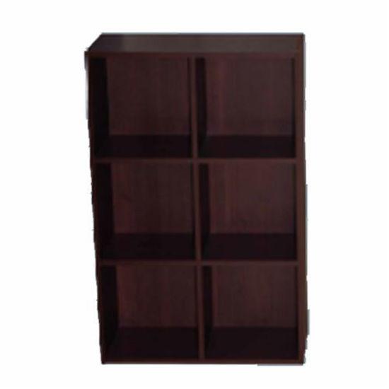 """6 Cube Bookcase - Expresso 24"""" X 11"""" X 35"""""""