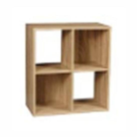 "4 Cube Bookcase- Oak 24"" X 11"" X 24"""