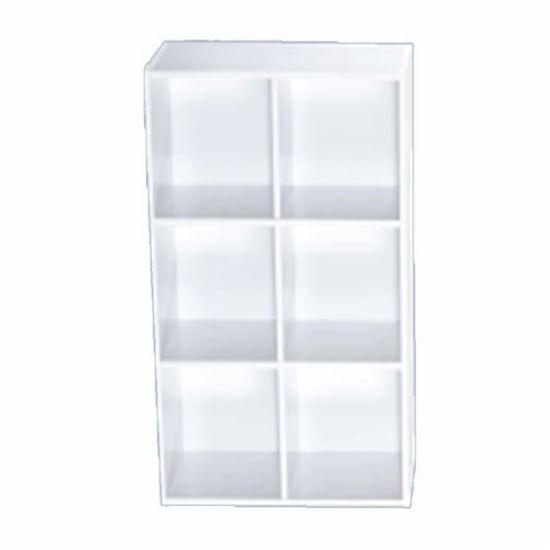 """6 Cube Bookcase-White 24"""" X 11"""" X 35"""""""