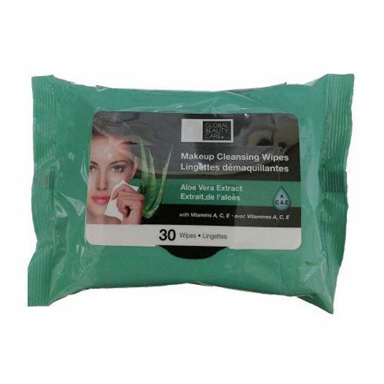 Global Beauty Care Aloe Vera Cleansing Wipe-30 Ct