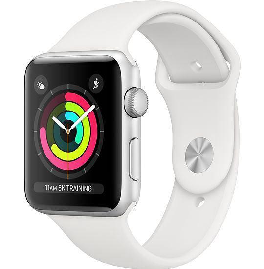 Apple Watch 3 (Gps) 38Mm Silver Aluminum W/Wht.Sp.Bnd