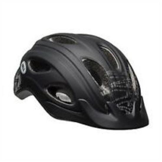 Adult Bike Helmet W/ Reflective Back - Black