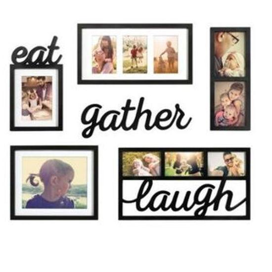 Eat Gather Laugh Wall Décor 6Pc