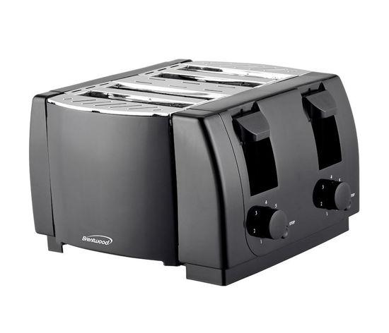 Brentwood 4 Slice Toaster 1300W - Black