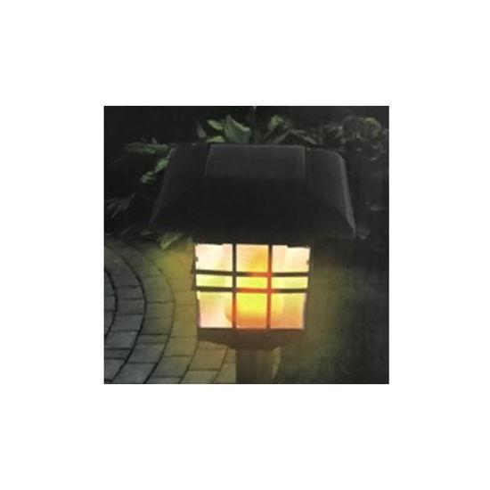 Flickering Led Flame Solar Poweredtorch Light -