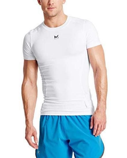Mission Vaporactive Mens Compression Shirt-Medium White
