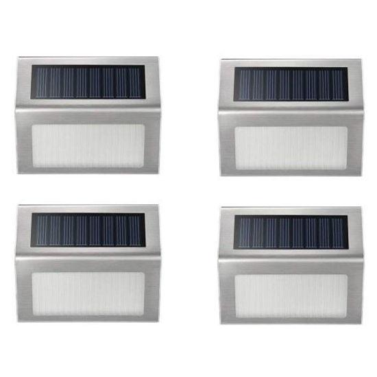 Aluminum Solar Exterior Lights - 4Pk
