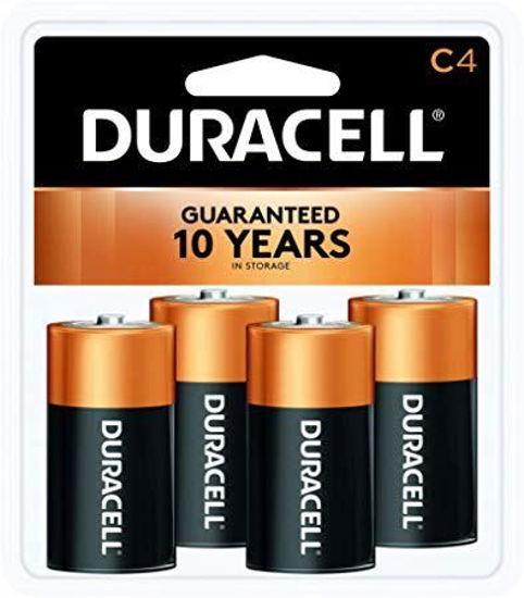 Duracell CoppertopAlkaline Batteries, C, 4Pk