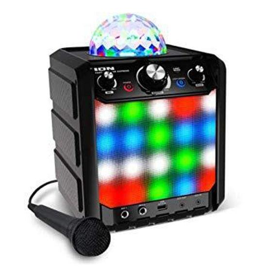 Ion Party Rocker Express Bluetooth Speaker W/Lights/Mic