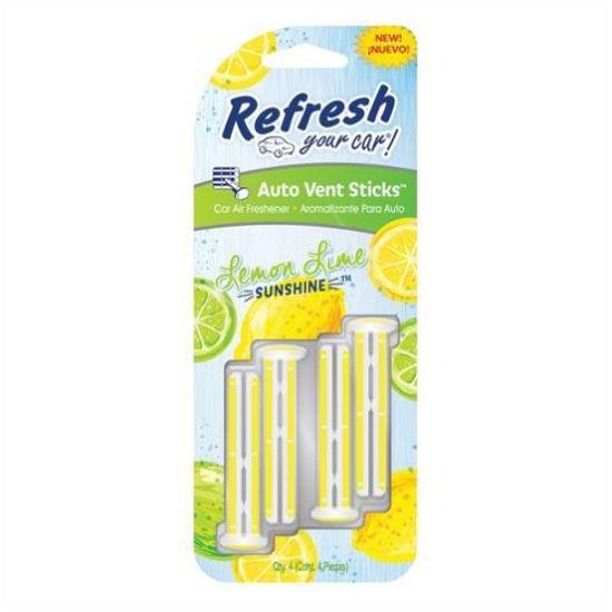 Refresh Car Freshener Vent Stick 4Pk - Lemon