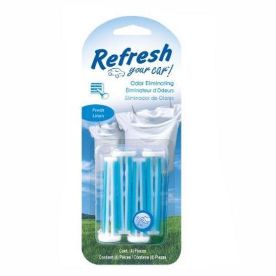 Refresh Car Freshener Vent Stick 4Pk - Fresh Linen