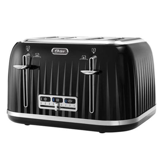 Oster 4-Slice Chrome Accent Toaster, Black
