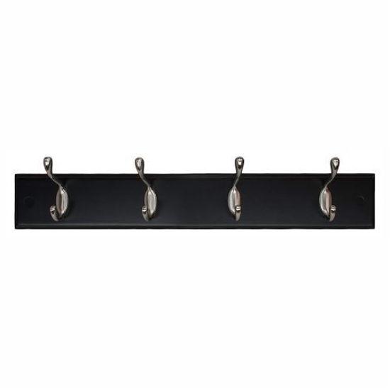 Kiera Grace 4 Hook Coat Rack- Black