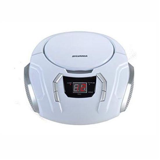 Sylvania Srcd261 Portable Cd/Am/Fm Boombox, Wht