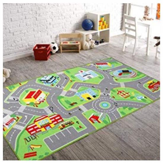 Fast Lane Floor Mat W/ 2 Cars-Asst
