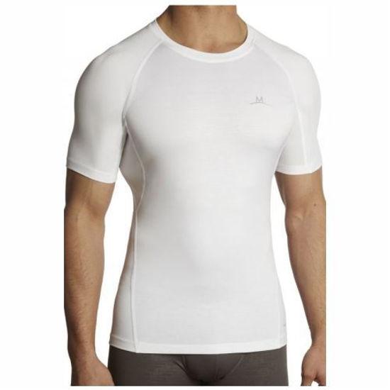 Mission Vaporactive Mens Compression Shirt-Xlarge White