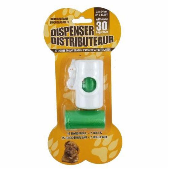 Pet Waste Dispenser W/ 30Ct Biodegradable Bags