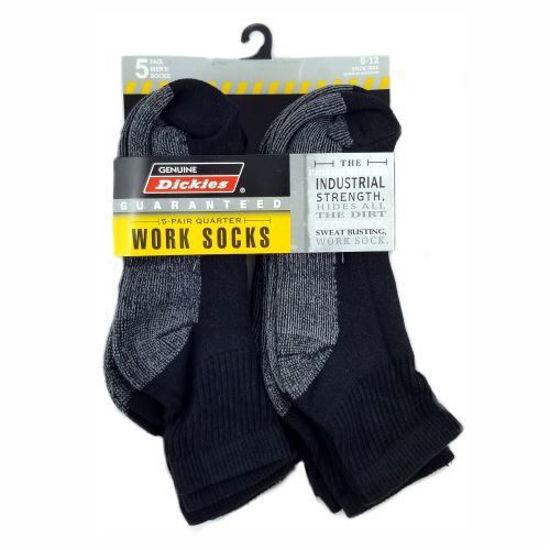 Dickies Industrual Strength Work Socks 5Pk 6-12 Blk