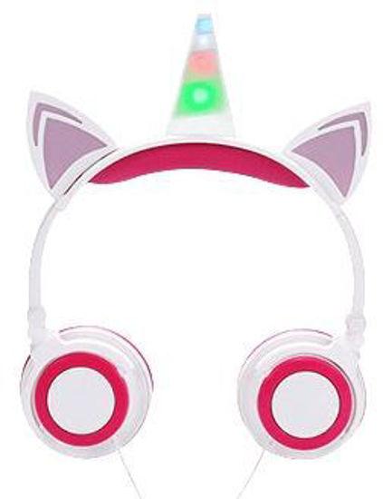 Soundlogic Led Light-Up Unicorn Wired Headphones