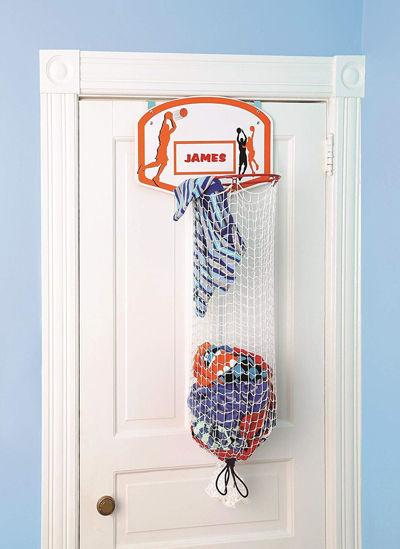 Over The Door Basketball Hamper