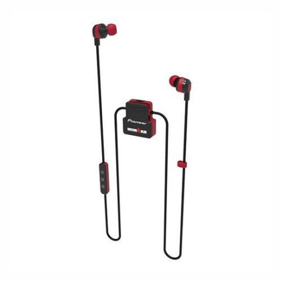 Pioneer Ironman Sweat-Resistant Wireless Earphones-Red