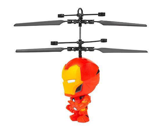 """Iron Man Big Head Flying Figure Rc Heliball-4"""""""