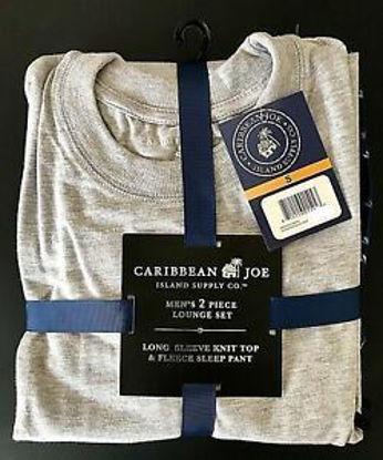 Caribbean Joe Mens 2 Piece Fleece Pj Set-Asst