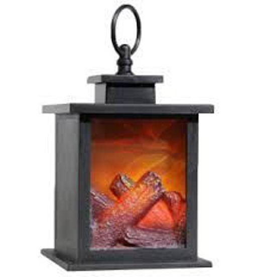 Antique Ed Fireplace Lantern