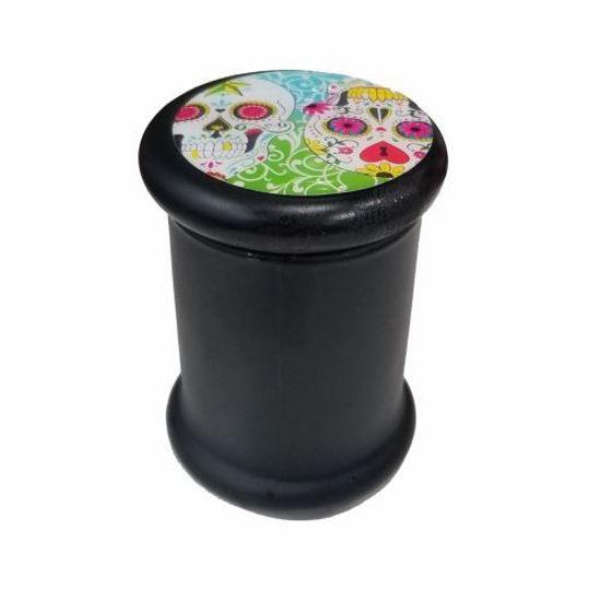 Black Glass Stash Container
