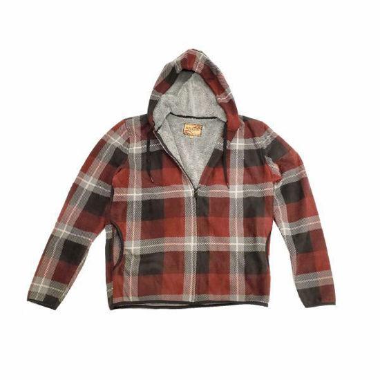 Sherpa Lined Full Zip Hoodie-Red Plaid