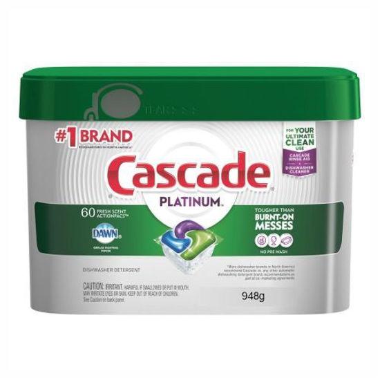 Cascade Platinum Dishwasher Actionpacs Fresh Scent 60Ct
