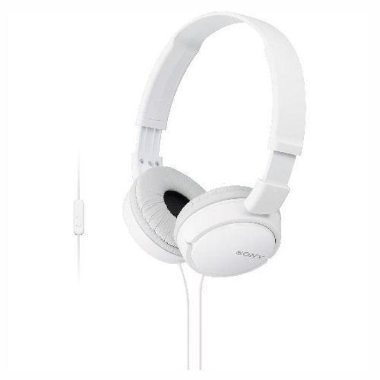 Sony Zx110ap Headphones W/Mic/Remote (White)