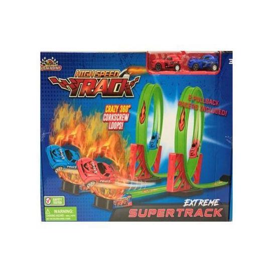 High Speed 2 Car Race Track-12Pc