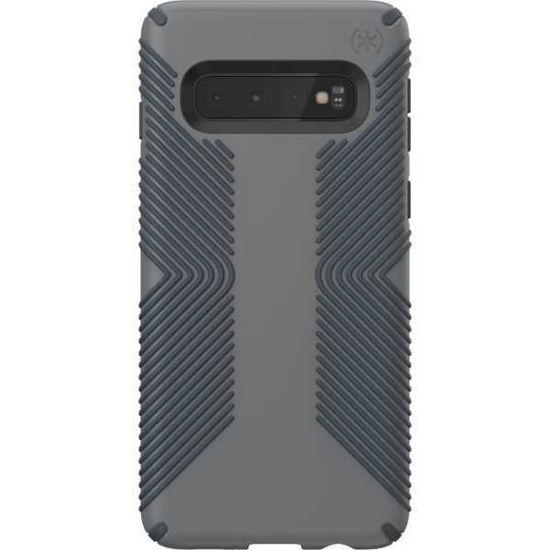 Speck Presidio Grip Galaxy S10+ Case- Chrcl Grey