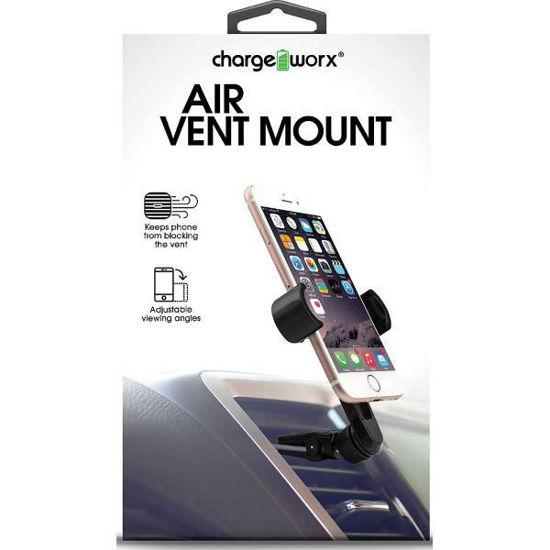 Chargeworx Clear Path Car Air Vent Grip Phone Mnt