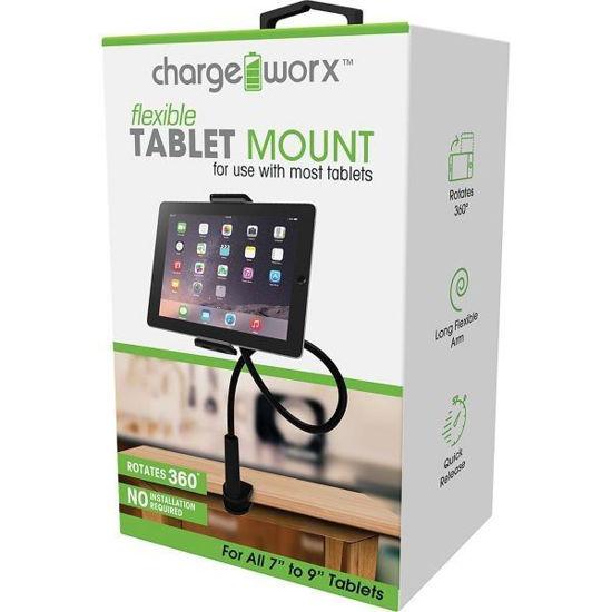 Chargeworx Flexible Tablet Desk Mount