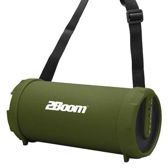 2Boom Bx320 Rubberized Bluetooth Boombox, Green