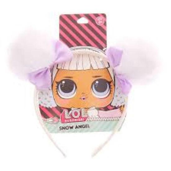 Lol Pom Pom Headband-Snow Angel