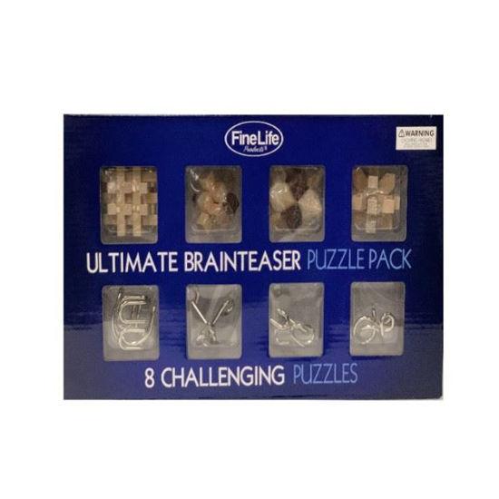Ultimate Brainteaser Puzzle Pack - 8 Puzzles