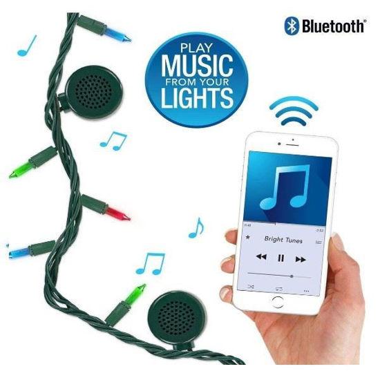 Bright Tunes Multi-Color Bulb Led String Lights W/ Bluetooth