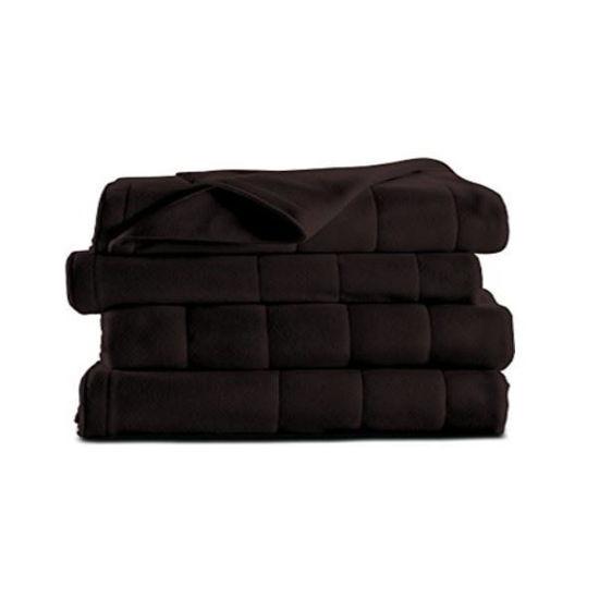 Sunbeam Micro Plush Heated Blanket Twin-Walnut