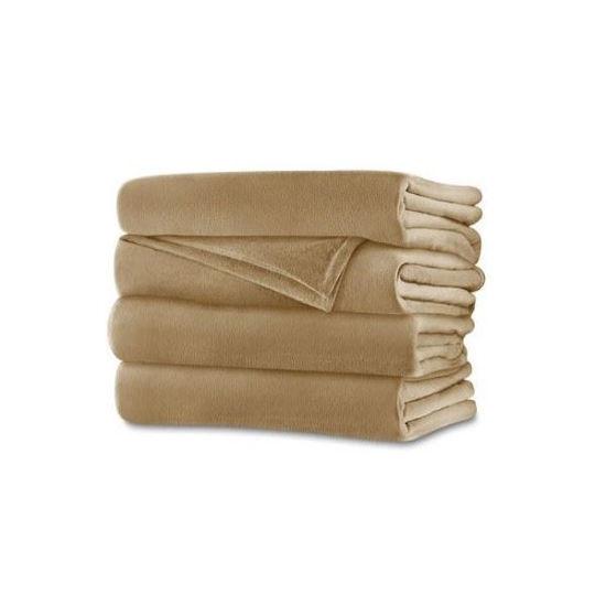 Sunbeam Micro Plush Heated Blanket King-Sand Stone