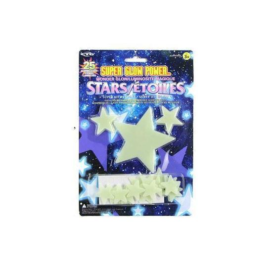 Super Glow In The Dark Star Set-25 Pc