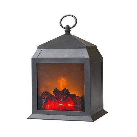 "Led 12"" Fireplace Lantern W/ Timer"