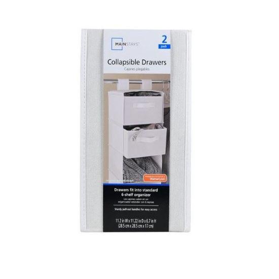 Mainstays Collapsible Drawer Closet Organizer