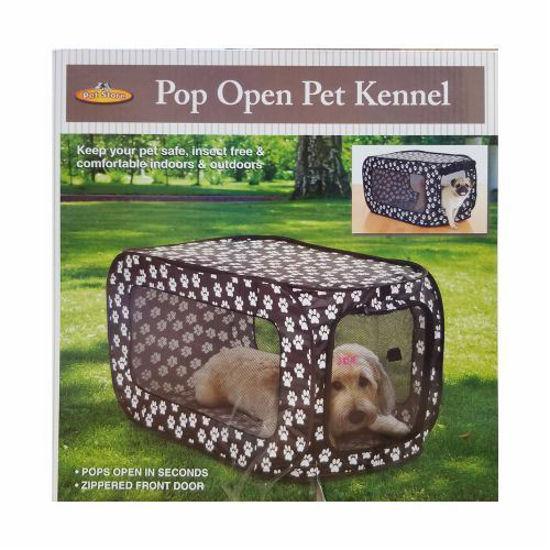 Pop Up Pet Kennel- Paw Prints 33''X19''x19''