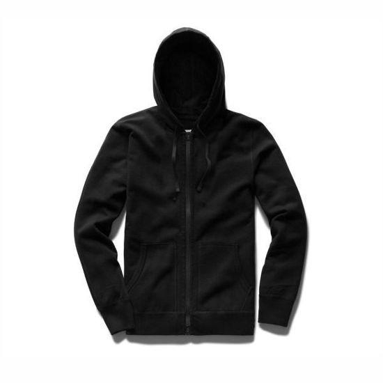 Sherpa Lined Full Zip Hoodie-Black
